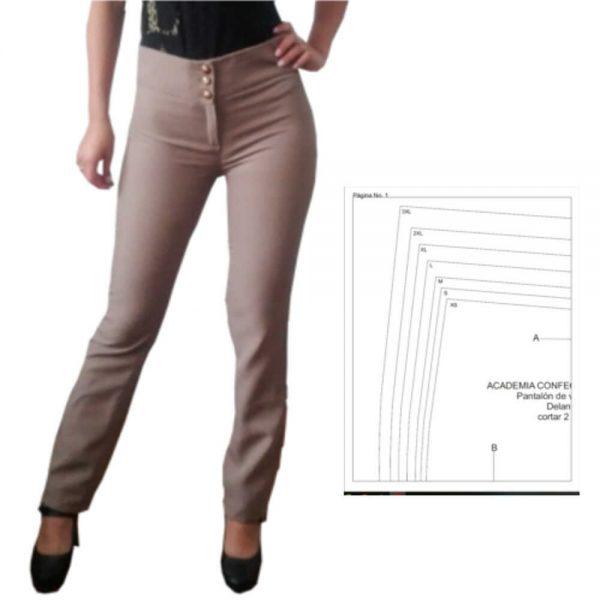 Patrón pantalón clásico de mujer