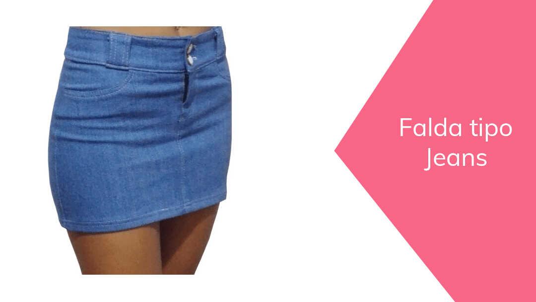 Cómo hacer una Falda tipo Jeans
