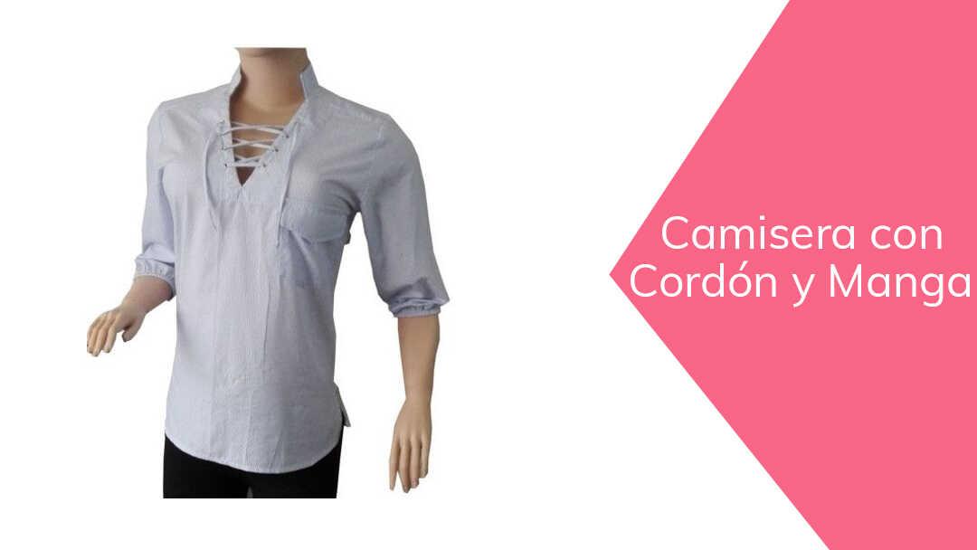 DIY Cómo hacer una  blusa escote con cordón  corte y confección