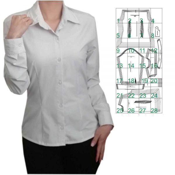 Blusa camisera de mujer
