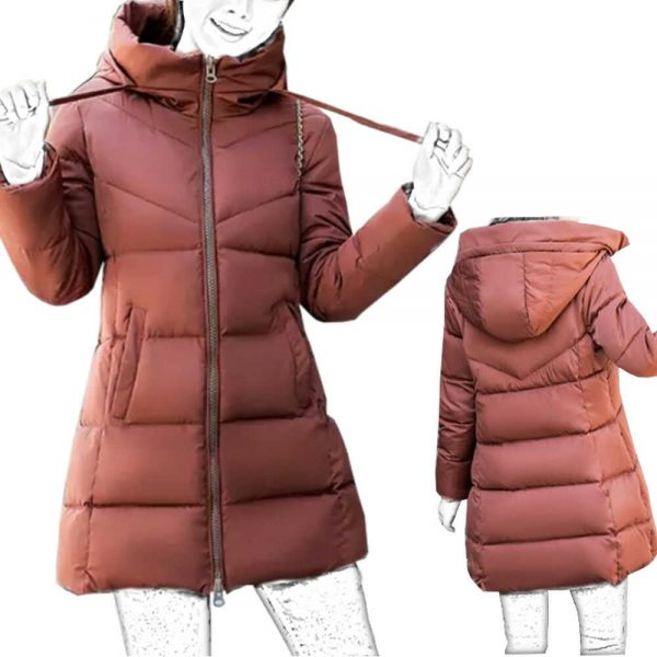chaqueta acolchada de mujer