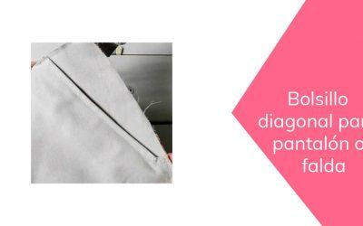 Cómo hacer un bolsillo en diagonal