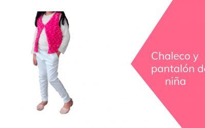Chaleco y pantalón de niña