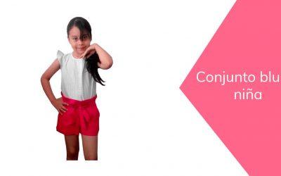 Blusa con prenses para niña